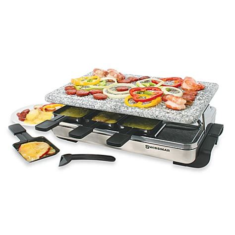 Cuisinart Raclette Grill by Swissmar 174 8 Person Stelvio Raclette Grill With