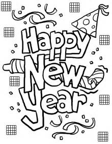 coloring pages new years free collections