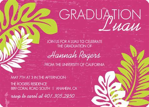 Graduation Invitation Cards Sles