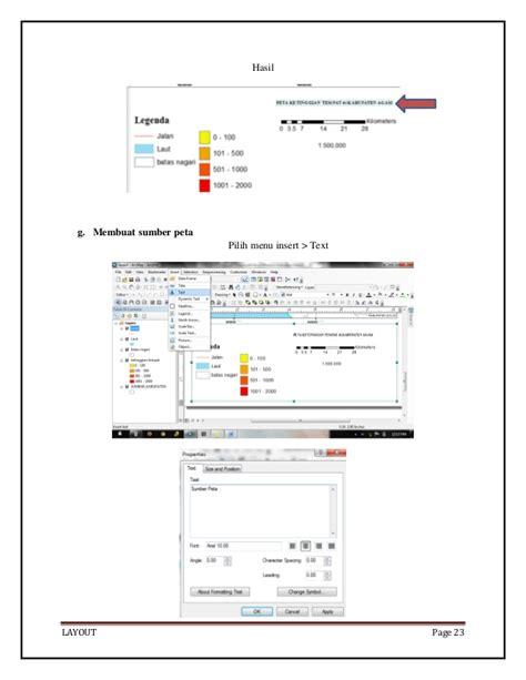 cara membuat layout peta arcgis layout pada arcgis 10 0