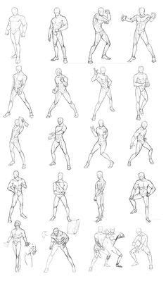 Sketches Poses by Drawing Poses Poses Chart 01 By Theoneg On