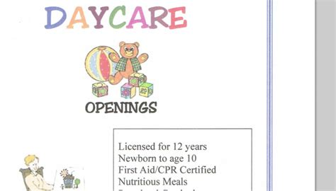 free child care flyer templates 5 daycare flyers templates af templates