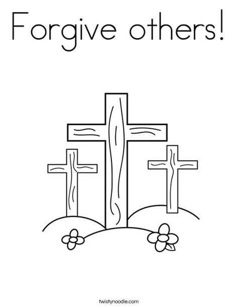 coloring pages jesus forgives forgive others coloring page twisty noodle