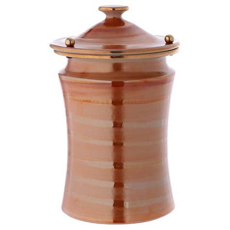 pomelli ceramica urna cineraria ceramica pomelli ottone color terra