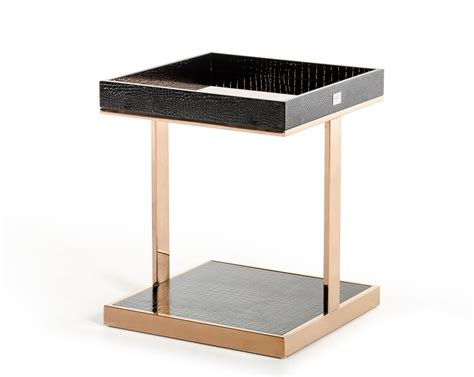 A X Padua Modern Small Chagne Rosegold End Table Modern End Tables For Living Room