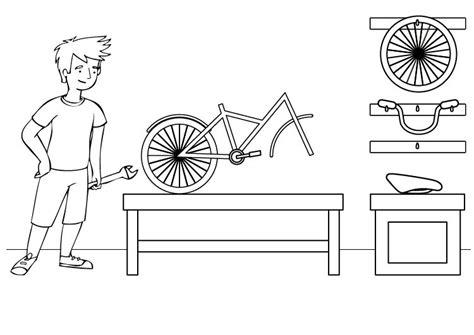 imagenes de bicicletas faciles para dibujar bicicleta dibujo para colorear e imprimir