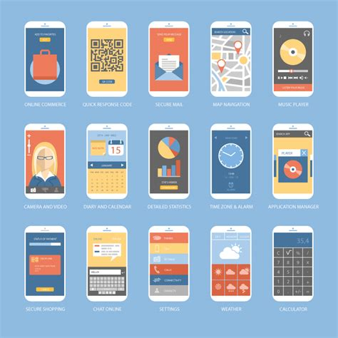 design mobile application ui 15 mobile app ui design vector free vector graphic download