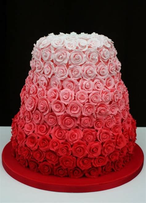 red roses pink ombre cake british wedding cakes a wedding cake blog