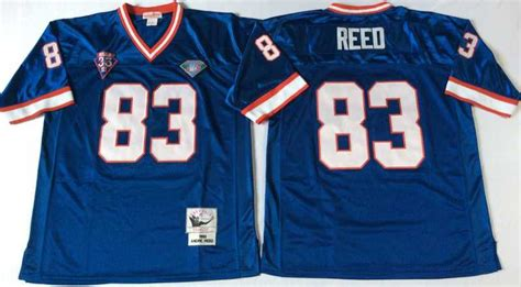 throwback blue andre reed 83 jersey most beautiful p 1202 throwback 12 jim 34 thurman 78 bruce smith 83