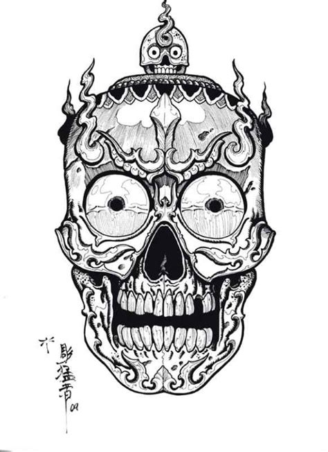Skull Collage Design Outline by Tibetan Skulls Designs By Horimouja Outline Stencil Great Book Skulls Drawings And