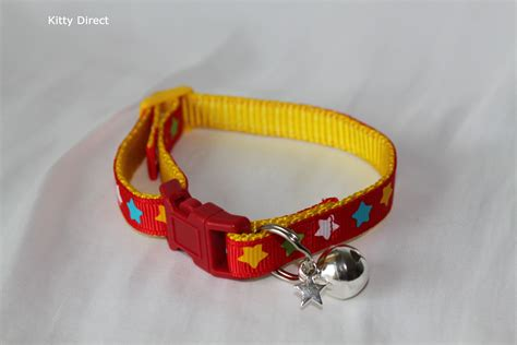 handmade fabric cat kitten collars removable bell