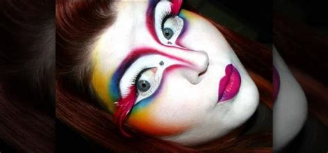 how to create a shocking cirque du soleil makeup look