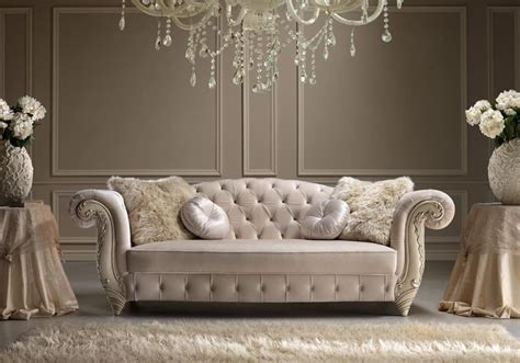 romantic couch elegant sofa in hand carved wood idfdesign