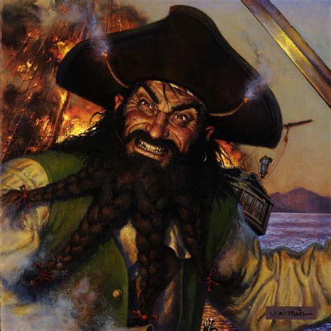blackbeard pirate blackbeard the pirate pirate war art pinterest