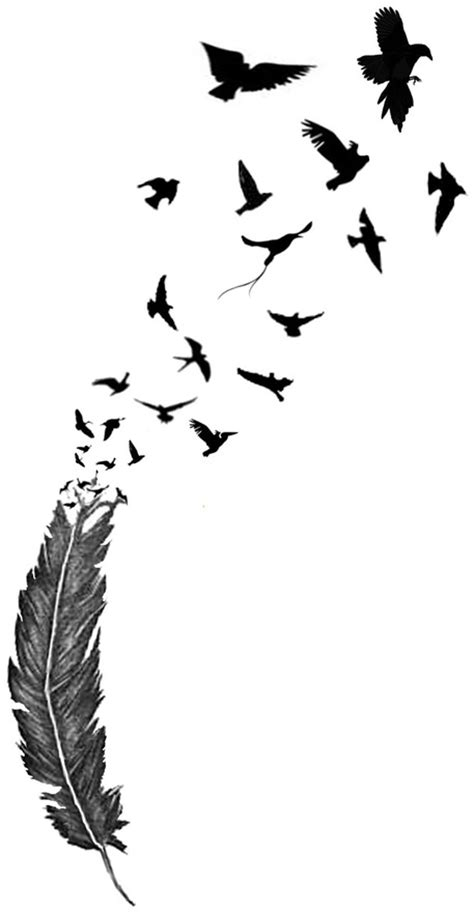 feather tattoo breaking into birds feather into birds tattoo tattoos pinterest birds