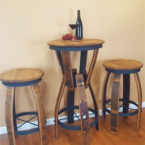 wine barrel pub table wine barrel pub table images bar height dining table set