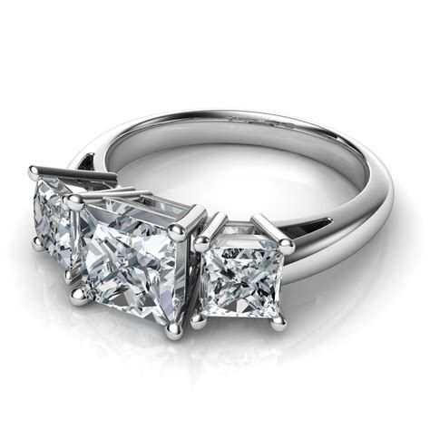 Princess Cut by Trilogy 3 Princess Cut Engagement Ring