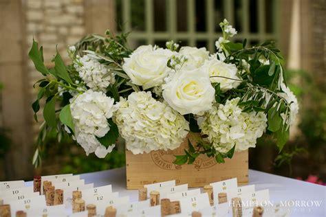 32 Wine Box Centerpiece, Ivory & Green Wedding, Italian