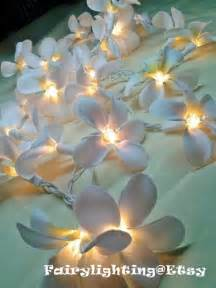 Flower String Lights For Bedroom 35 Bulbs White Orchid Flower String Lights By Fairylighting