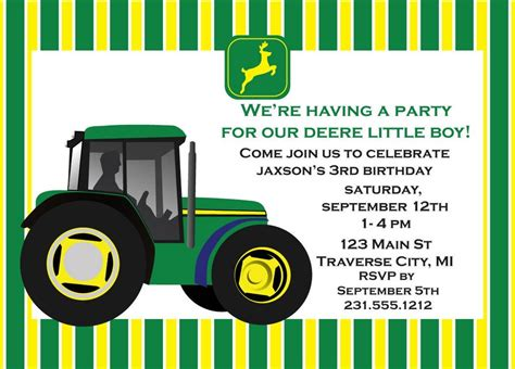 Free John Deere Birthday Invitations Bagvania Free Printable Invitation Template Free Deere Invitation Template