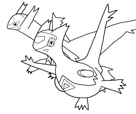 pokemon coloring pages latios latios and latias lineart by dragonmalte on deviantart