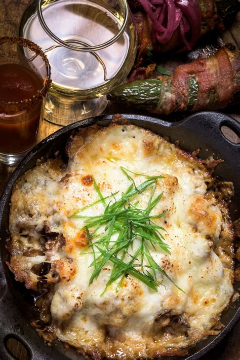 queso fundido melted cheese  chorizo dip