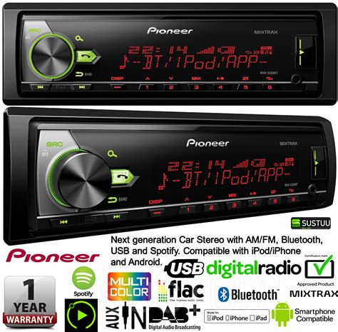 android compatible car stereo pioneer car stereo am fm bluetooth usb compatible for ipod iphone and android ebay