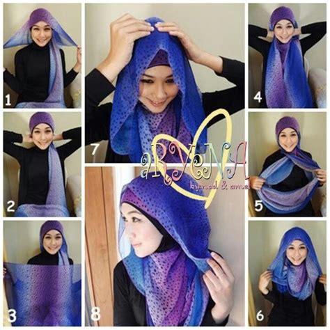 tutorial hijab turban pashmina simple hijab tuto by aryena things i love pinterest hijab