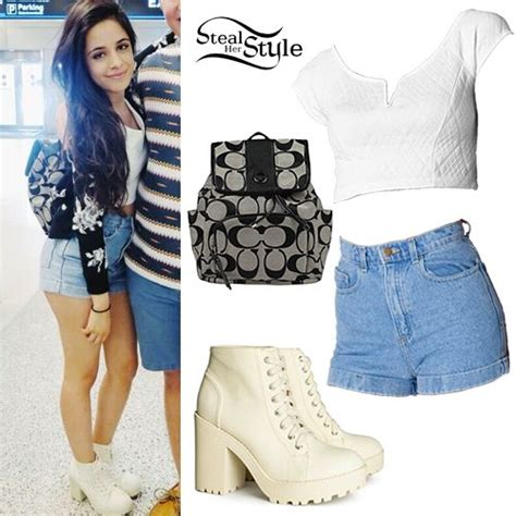 decke klauen camila cabello quilted crop top denim shorts things to
