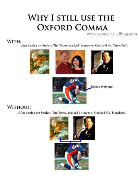 Oxford Comma Meme - oxford comma memes evidence against the oxford comma
