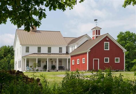 Farmhouse Style Home Plans Pole Barn House Plans Exterior Farmhouse With Grass Cupola