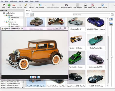 Stecotec Model Car Collector Pro: Inventory Software for