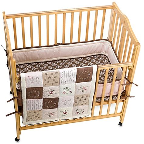 Kids Line Julia 3 Piece Portable Crib Bedding Set Bed Porta Crib Bedding Set