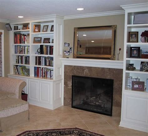 shelves entertainment center with fireplace and custom