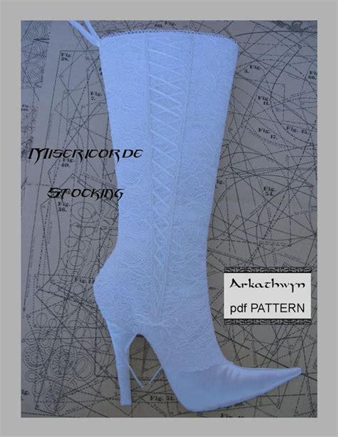 pattern tap alternative high heel stiletto christmas stocking pdf pattern