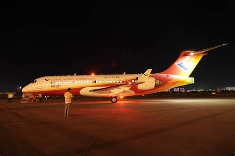 aircraft anti collision lights arj21 700 ac104 completes authority certification flight