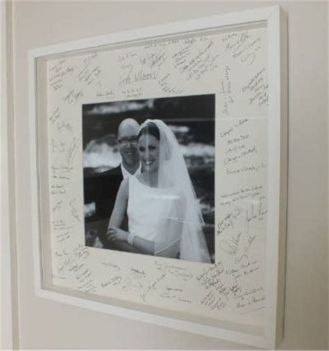 picture frame guest book ideas a wedding guest book