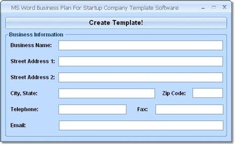 Screenshot Review Downloads Of Shareware Ms Word Business Plan For Startup Company Template Microsoft Word Business Plan Template