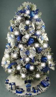 decorations blue and silver lovely silver and blue and white tree
