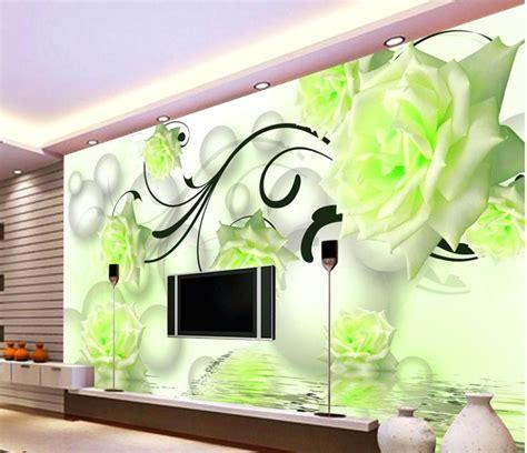 Mewah Walpaper Walpaper Dinding Stiker Bunga Putih Kmk 089 Size 45cm X 65 desain wallpaper dinding ruang tamu minimalis terbaru