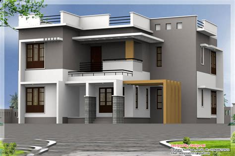 home design of kerala two floor houses with 3rd floor serving as a roof deck