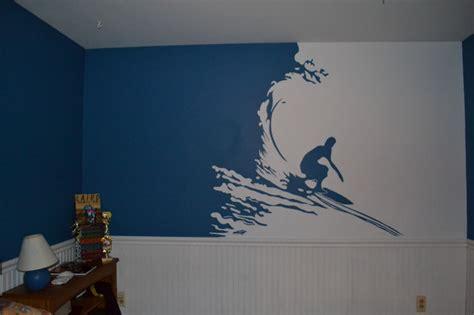 wall murals for boys surfer mural in boys room