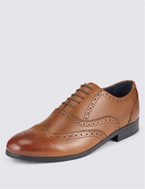 Handmade Leather Brogues - handmade mens brown brogues oxford leather dress shoes