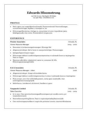 simple sle of resume format 12 free high school student resume exles for
