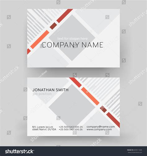 business card template page vector modern creative business card template stock vector