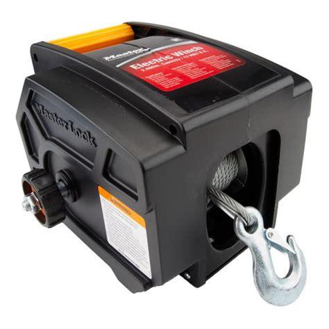 boat winch lock master lock portable 12v electric winch academy
