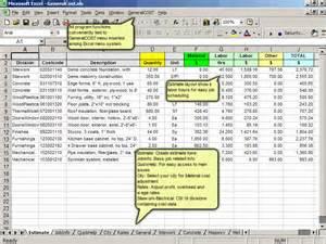 General cost estimating estimate construction cost in excel