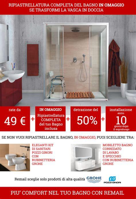 vasca doccia offerte nuova offerta doccia remail con ripiastrellatura completa