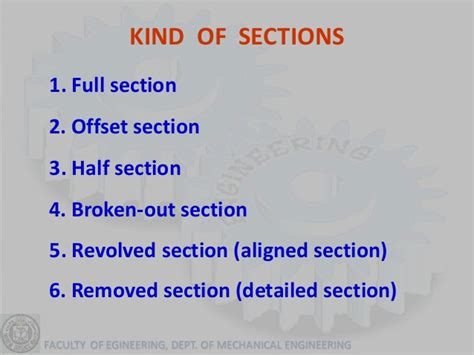 types of sectional views graphics lecture 4 section view