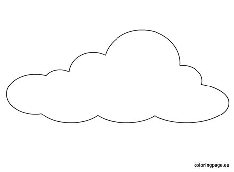 Cloud Template Free Coloring Pages Of Cloud Stencile